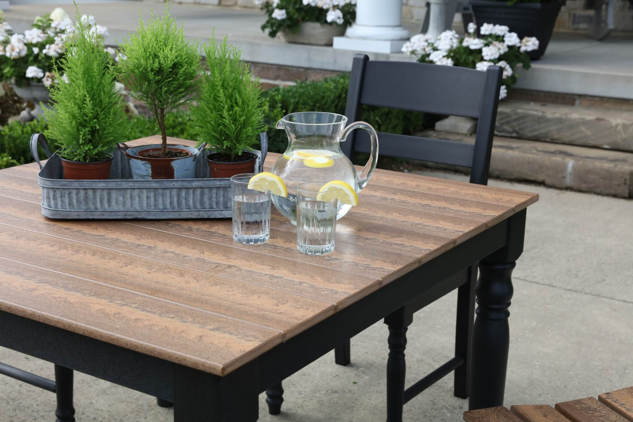 new farm house collection outdoor poly dining set