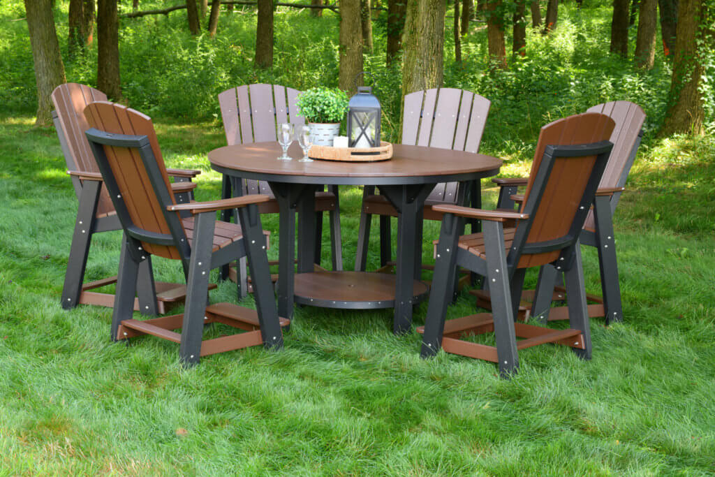 outdoor poly pub table set
