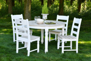 round poly table set