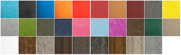 poly color samples
